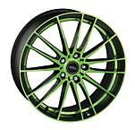 Dotz Fast Fifteen green 8x19 5x108 ET45 Leštená čelná plocha / Zelený lak / Čierny lak