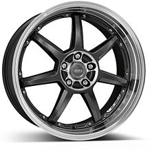 Dotz Fast Seven 9,5x19 5x112 ET35 Leštený stred a golier / Metalicky šedý lak
